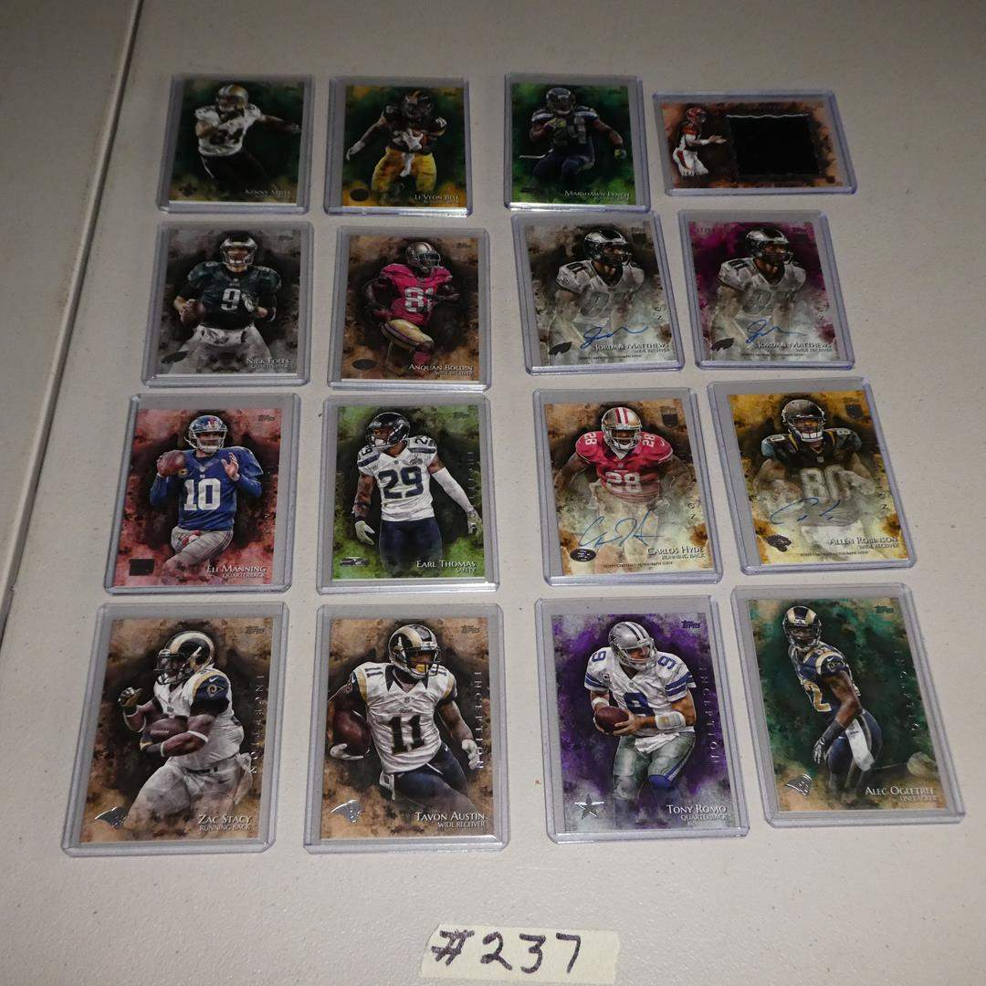 Lot # 237 - 2014 Topps Inception  Relic Card & Autographs - 16 Cards incased in plastic (main image)