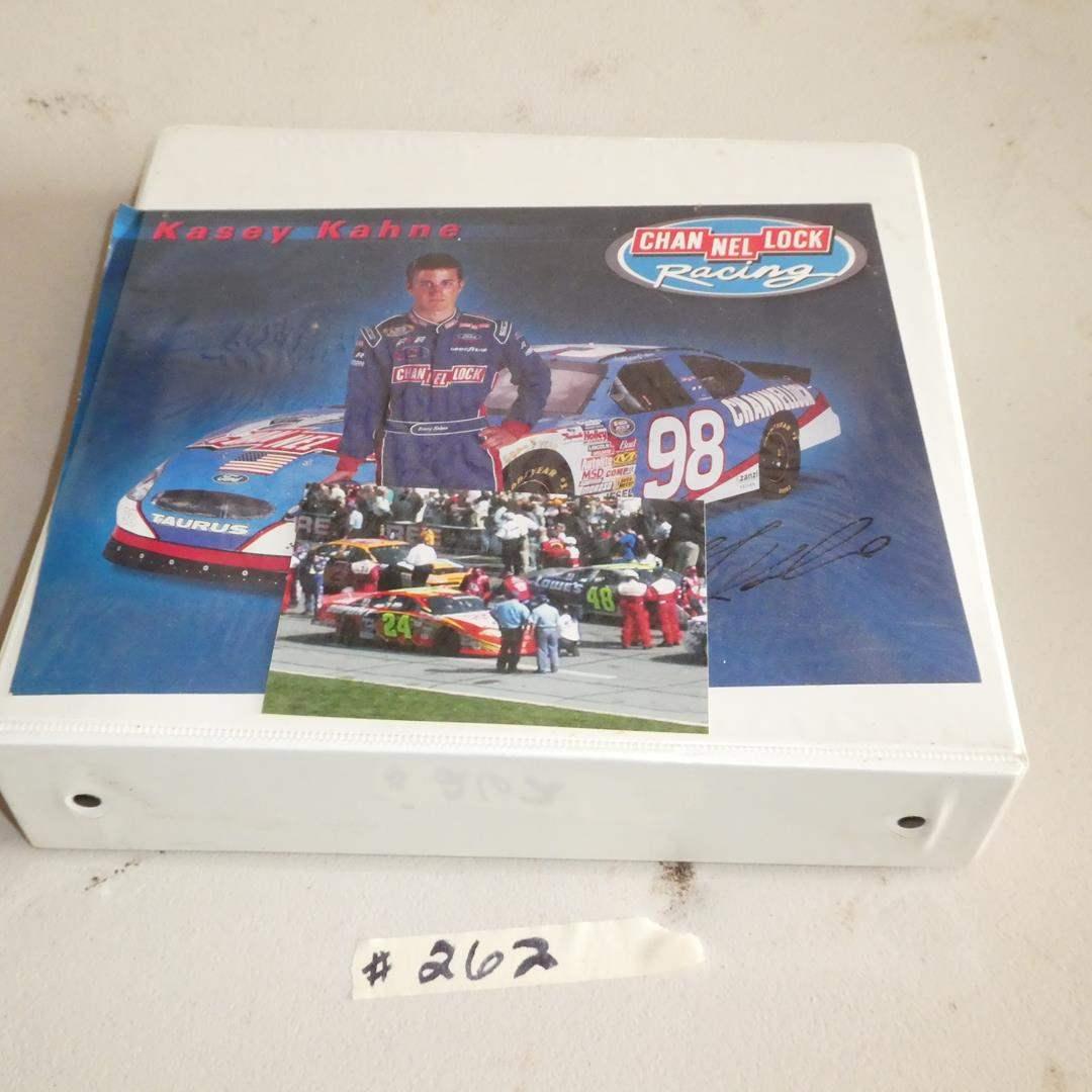 Lot # 262 - NASCAR Cards in Binder - Earnhardt, Gorden & More  (main image)