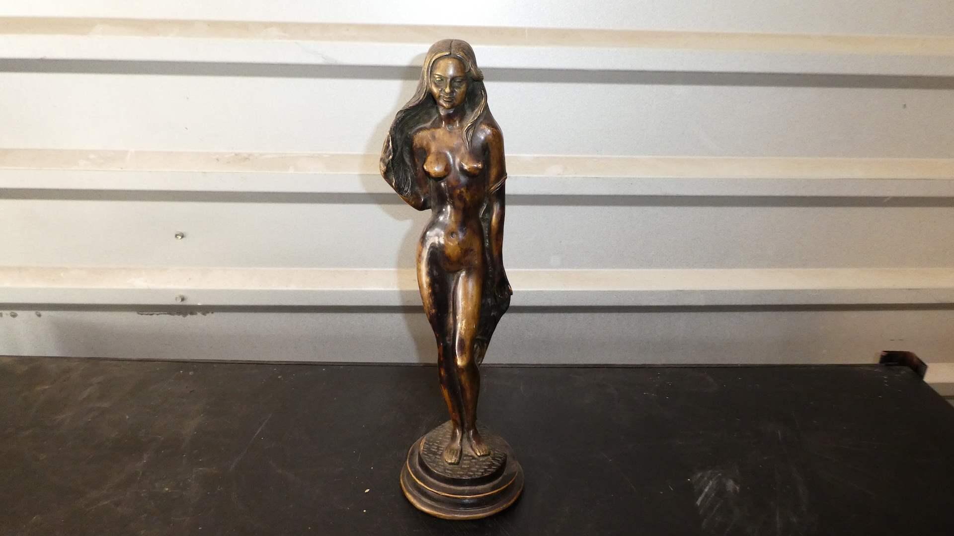 Lot # 312 - Vintage Bronze Woman Statue (main image)