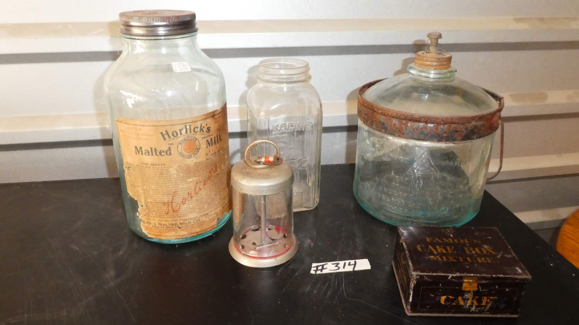 Lot # 314 - Vintage Collectibles,  Glass Jars & More (main image)