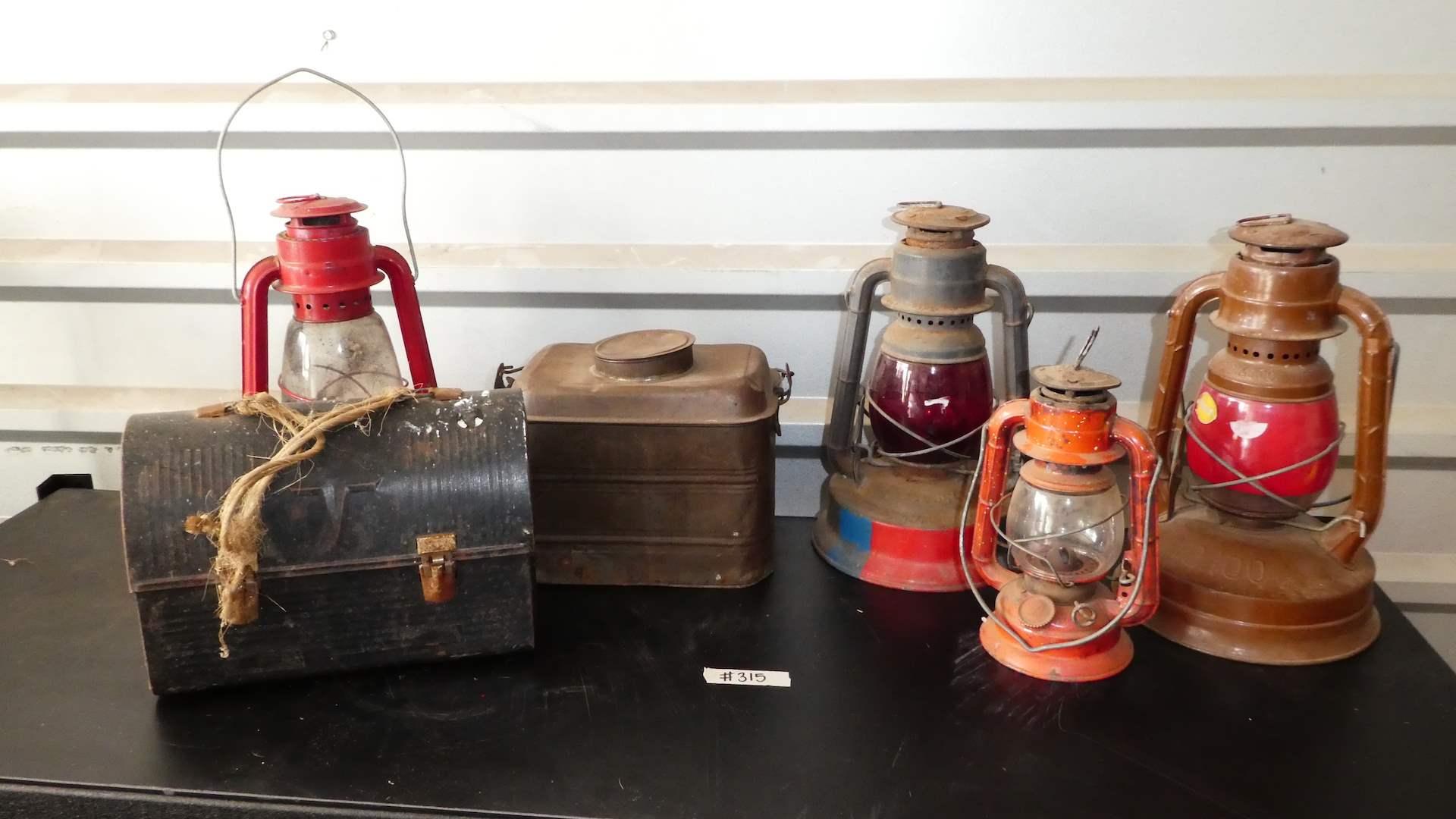 Lot # 315 - Vintage Oil Lanterns( Deitz, P.G. &E) (main image)