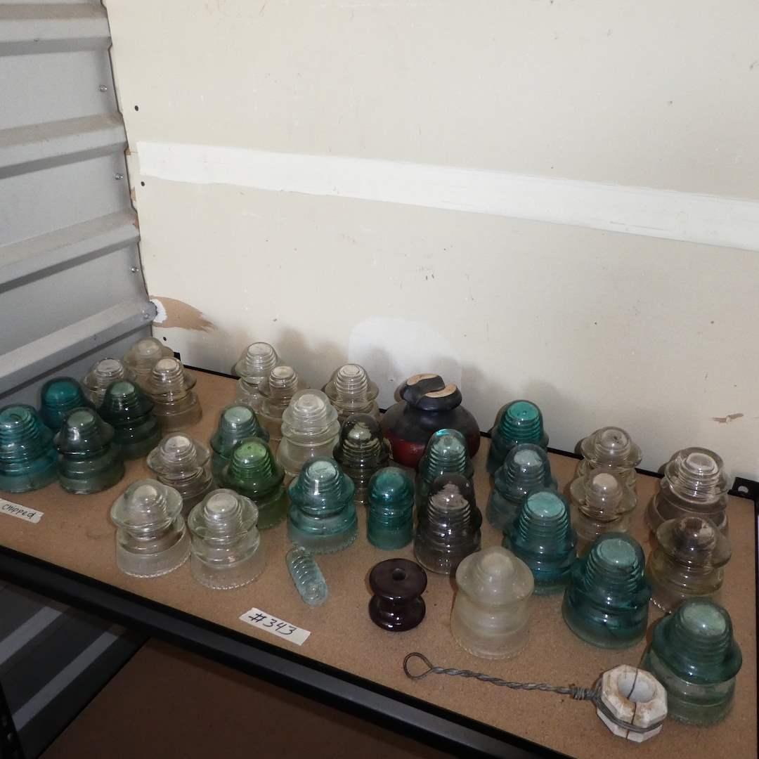 Lot # 343- Variety Of Vintage Glass Insulators (main image)