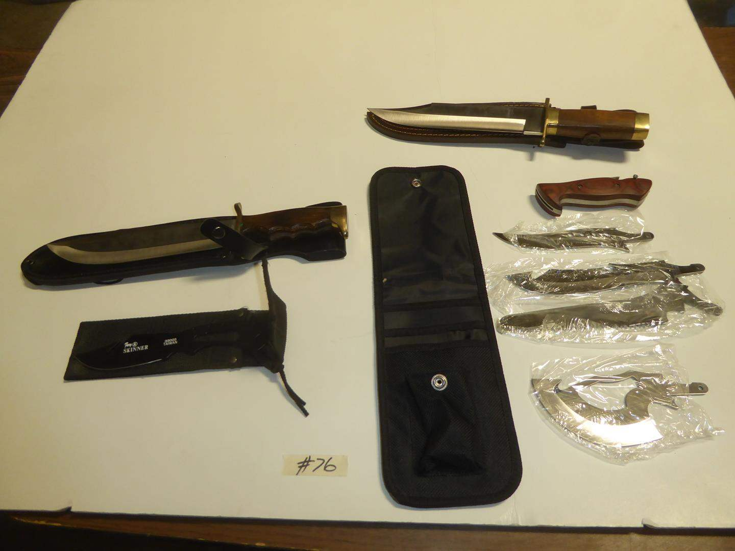 Lot # 76 - Bowie Knives & Survival Knife Kit (main image)