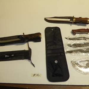 Auction Thumbnail for: Lot # 76 - Bowie Knives & Survival Knife Kit