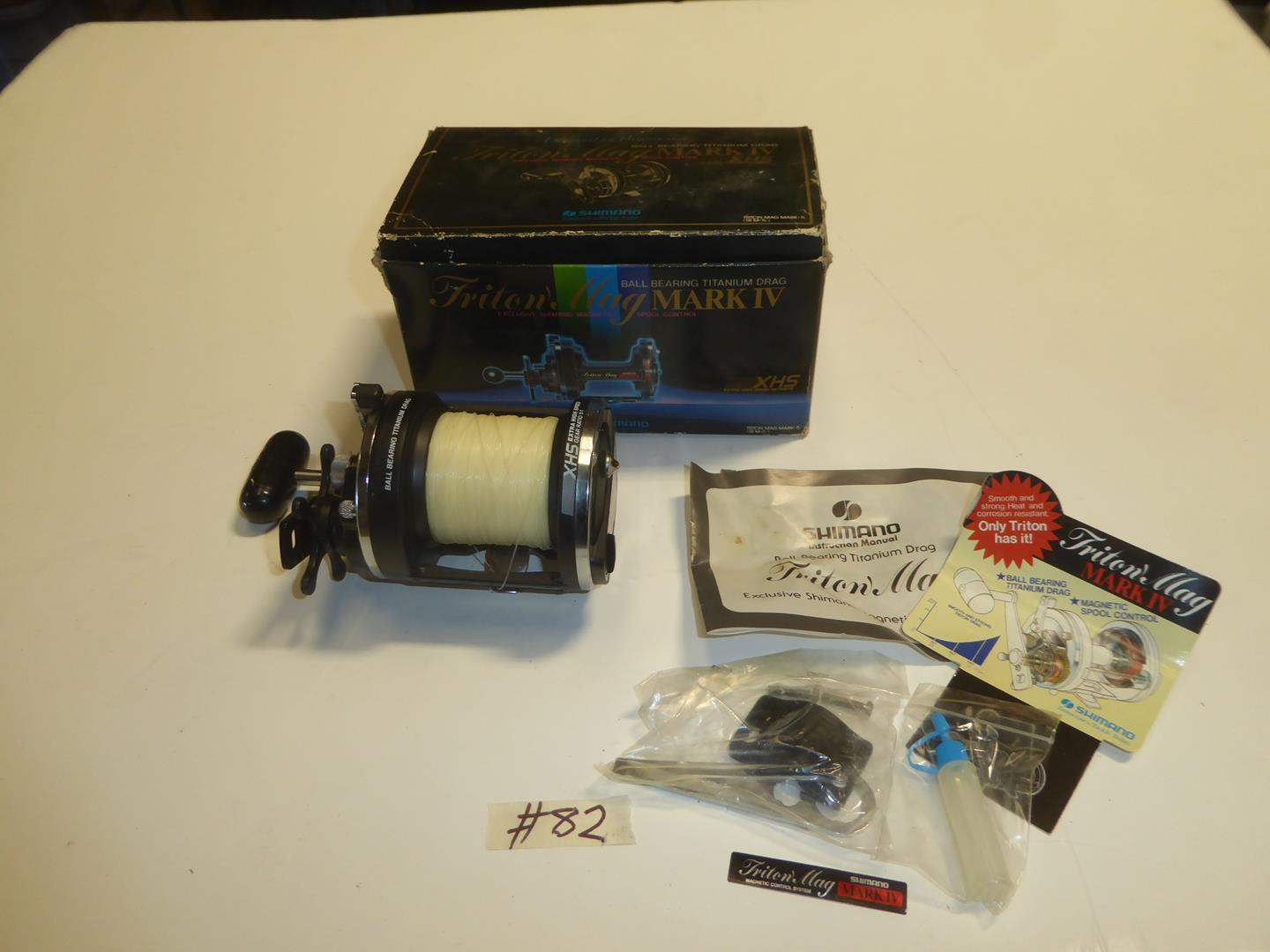 Lot # 82 - Shimano Triton Mag Mark IV Fishing Reel (main image)