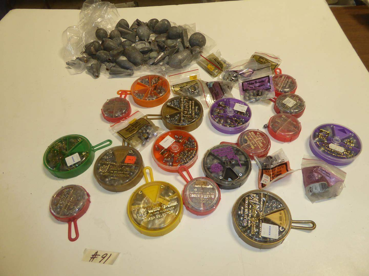 Lot # 91 - Lead Weights & Split Shot Sinkers (main image)