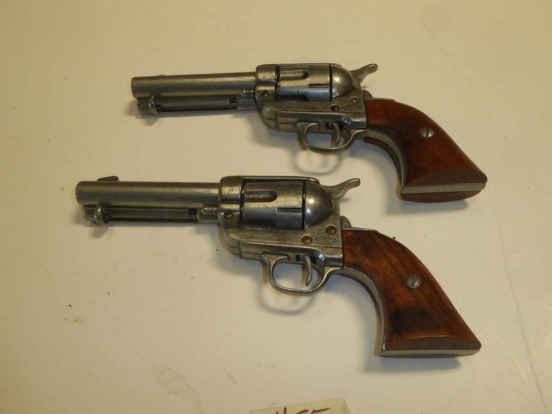 Lot # 95 - Two BKA 98 Replica Colt 45 Revolvers - Realistic Non Firing Prop Guns (main image)
