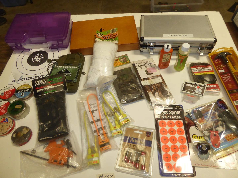 Lot # 104 - Airgun Pellets, Gun Supplies, Cleaning Kits & Delta Rest (main image)
