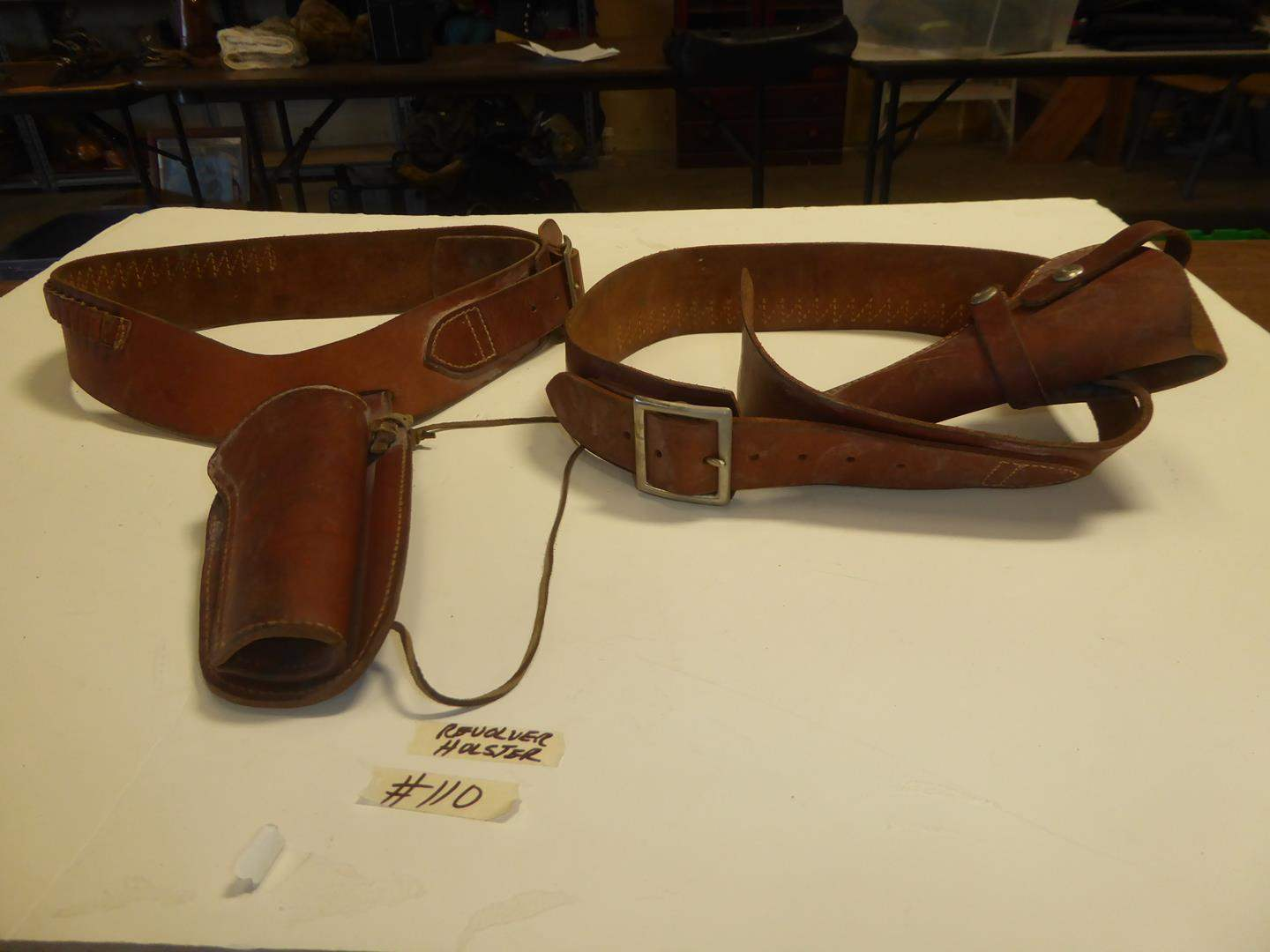 Lot # 110 - Leather Revolver Holsters (main image)