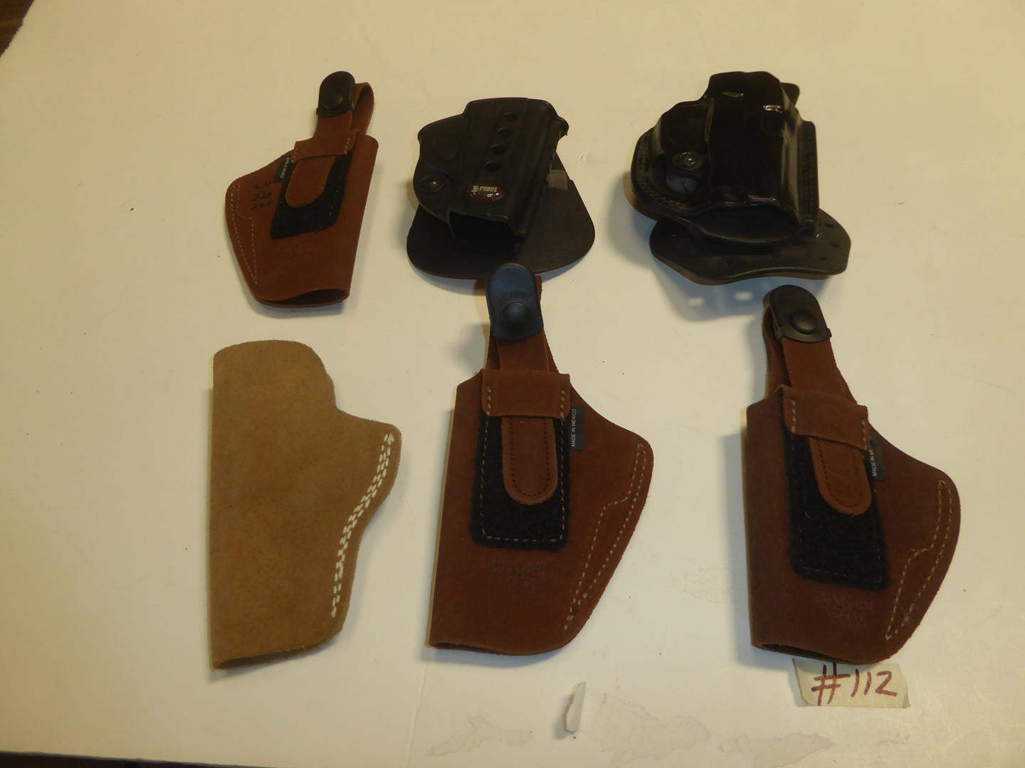 Lot # 112 - Assorted Holsters (main image)
