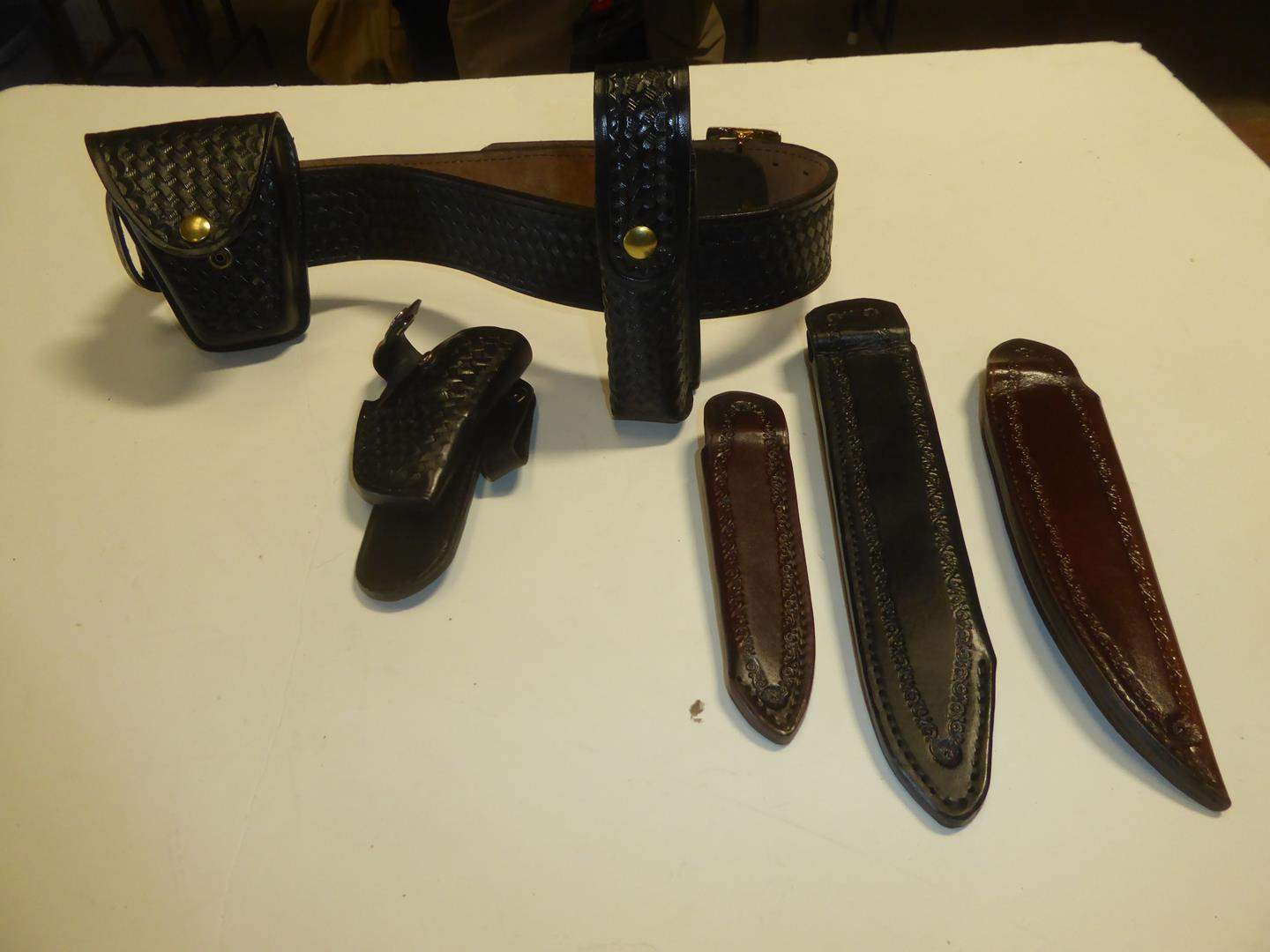 Lot # 114 - Ruger LCR Holster & Leather Knife Sheaths (main image)