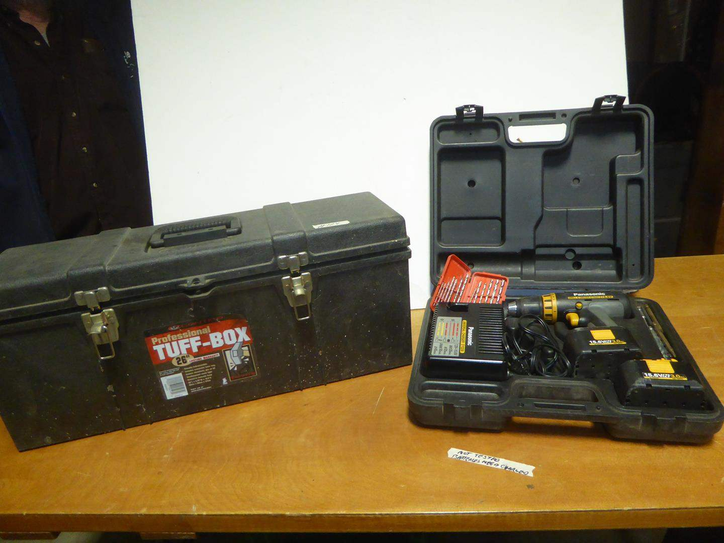 Lot # 124 - Panasonic Cordless Drill / Driver & Professional Tuff-Box (main image)