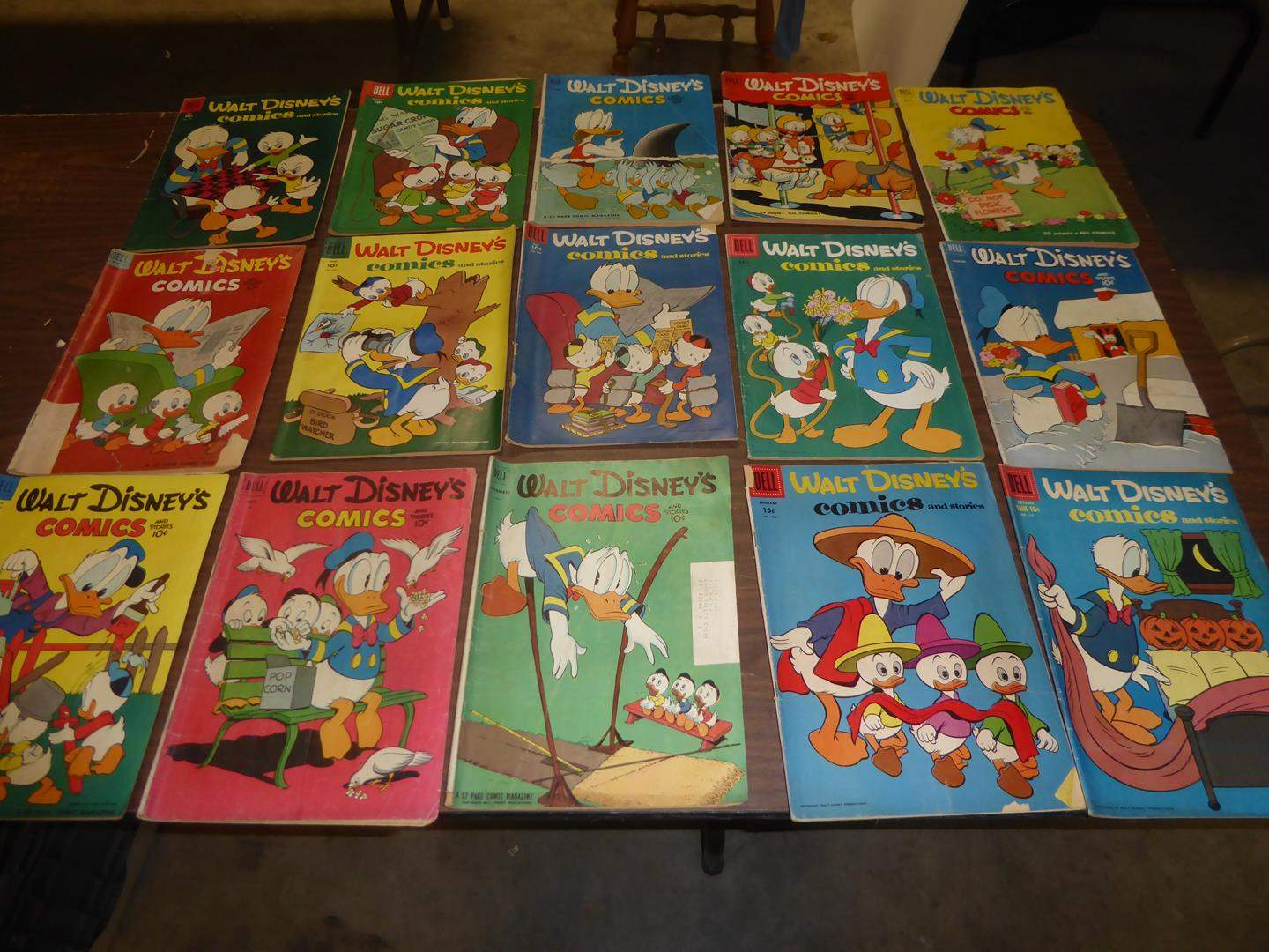 Lot # 325 - Fifteen Vintage 1950's Walt Disney's Comic Books (main image)