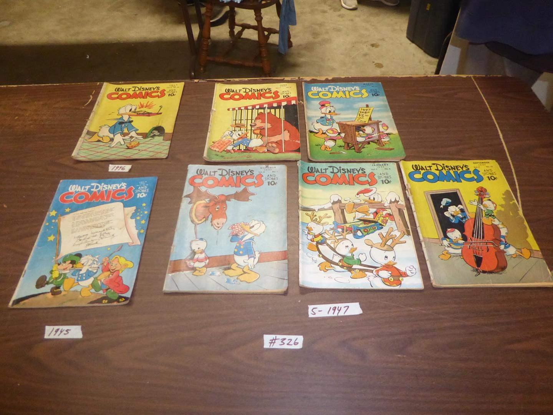 Lot # 326 - Vintage Walt Disney's Comic Books (1945, 1946 & Five 1947) (main image)