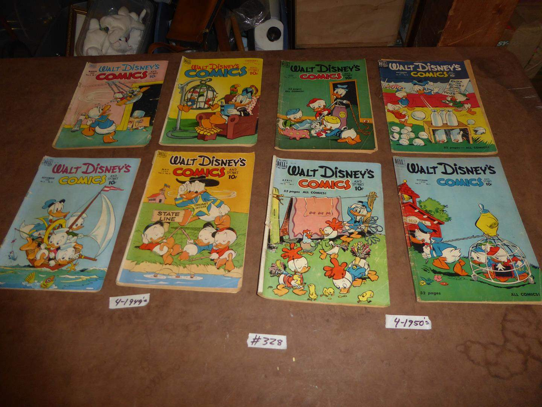 Lot # 328 - Four Vintage 1949 & Four 1950's Walt Disney's Comic Books (main image)