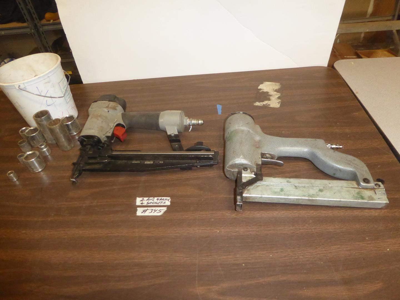 Lot # 345 - Two Air Nail Guns & Sockets (main image)