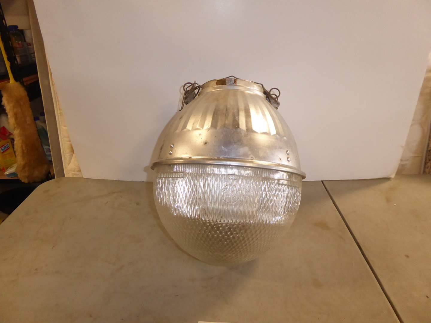"Lot # 204 - 1950's Holophane ""Line Material"" Gumball Street Light (main image)"
