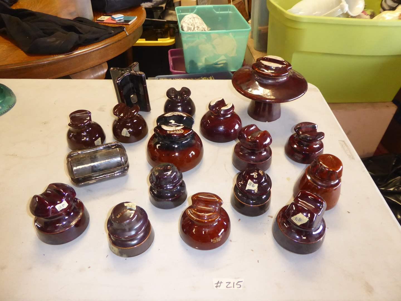 Lot # 215 - Vintage Ceramic Insulators (main image)