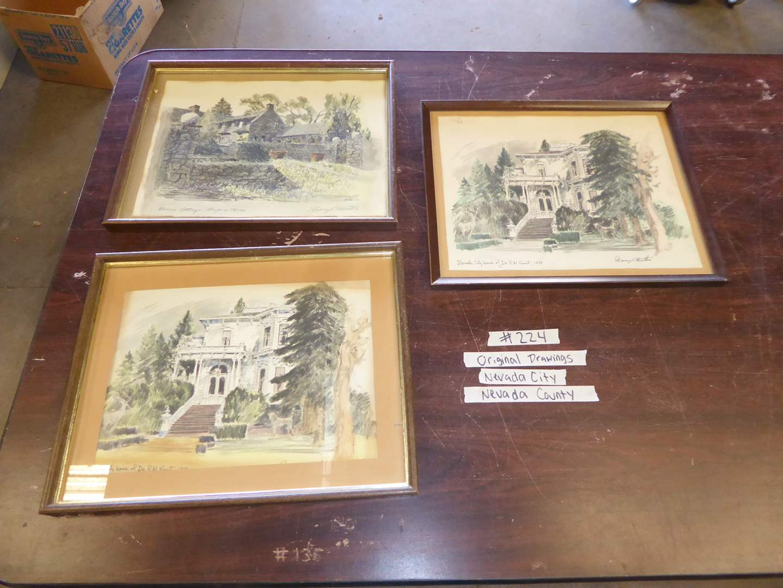 Lot # 224 - Three Prints By George Mattis Nevada City/ Nevada County (main image)