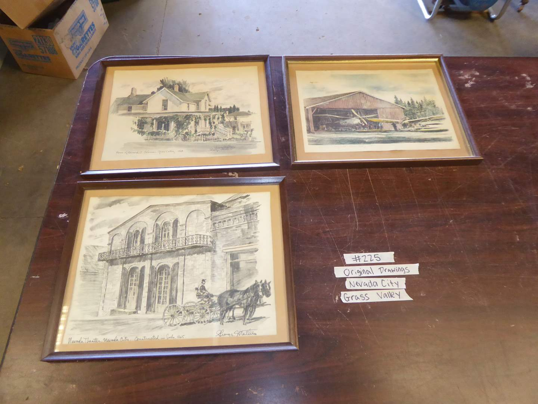 Lot # 225 - Three Prints By George Mattis Nevada City/ Grass Valley (main image)