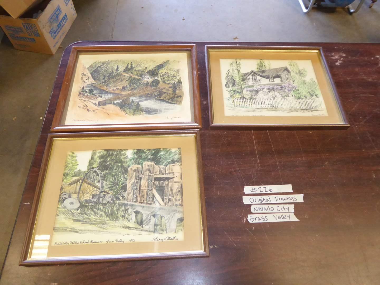 Lot # 226 - Three Vintage Prints By George Mattis Nevada City/ Grass Valley (main image)