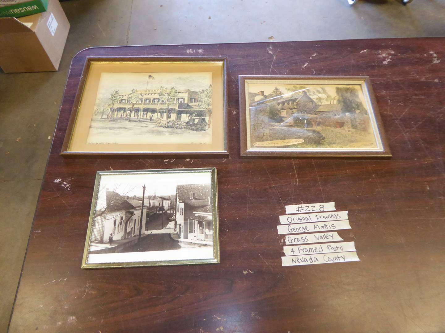 Lot # 228 - Two Prints By George Mattis Nevada County & Framed Photo (main image)