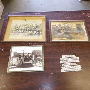 Auction Thumbnail for: Lot # 228 - Two Prints By George Mattis Nevada County & Framed Photo