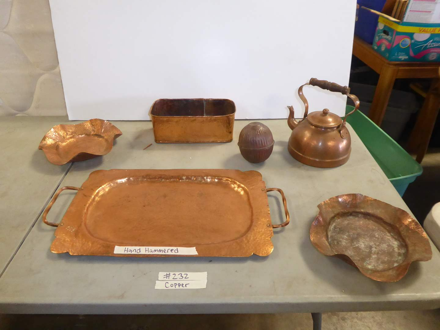 Lot # 232 - Hand Hammered Copper & Other Copper Items  (main image)