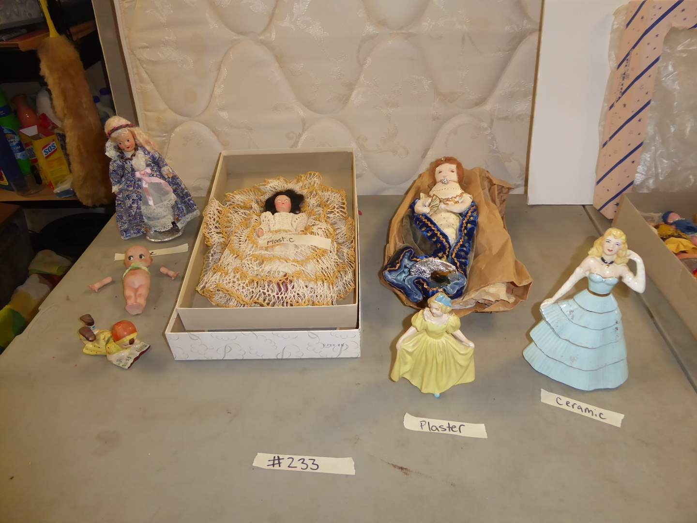 Lot # 233 - Vintage Plastic, Ceramic, Cloth & Bisque Dolls (main image)