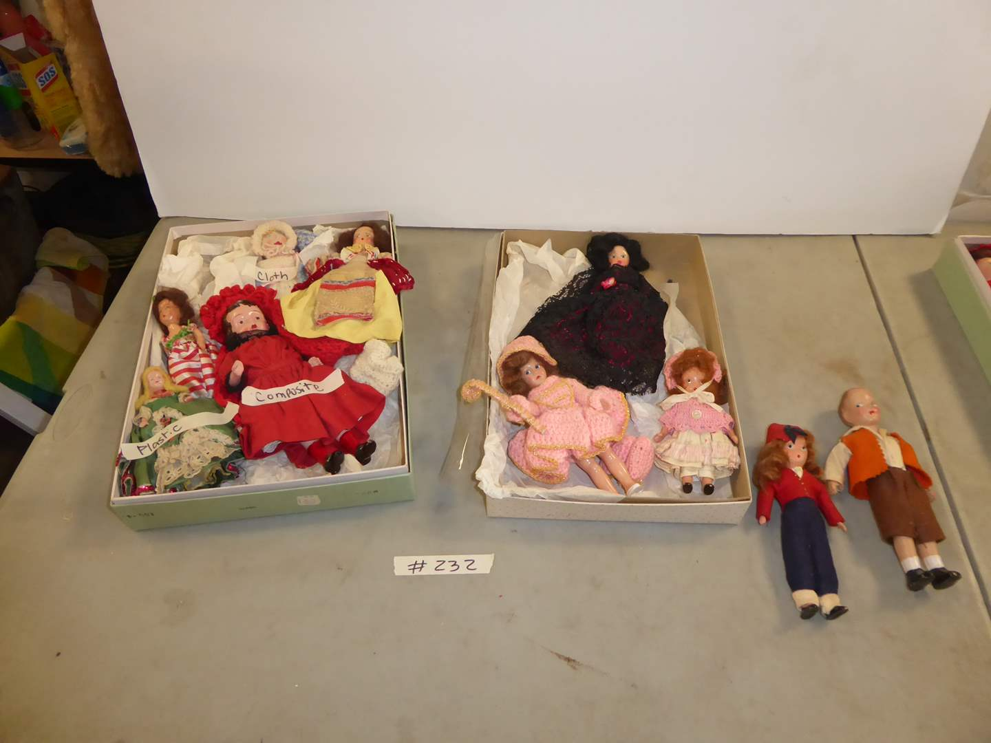 Lot # 232A - Vintage Doll Lot - Plastic, Composite & Cloth (main image)