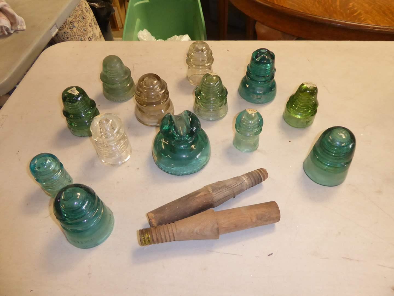Lot # 237 - Vintage Glass Insulators  (main image)