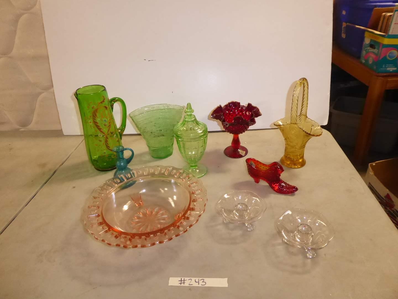 Lot # 243 - Red Hobnail Fenton, Uranium Glass, Blown Glass & More  (main image)