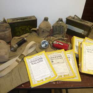 Auction Thumbnail for: Lot # 251 - National Geographic's (30's, 40's 50's) & Military Gear