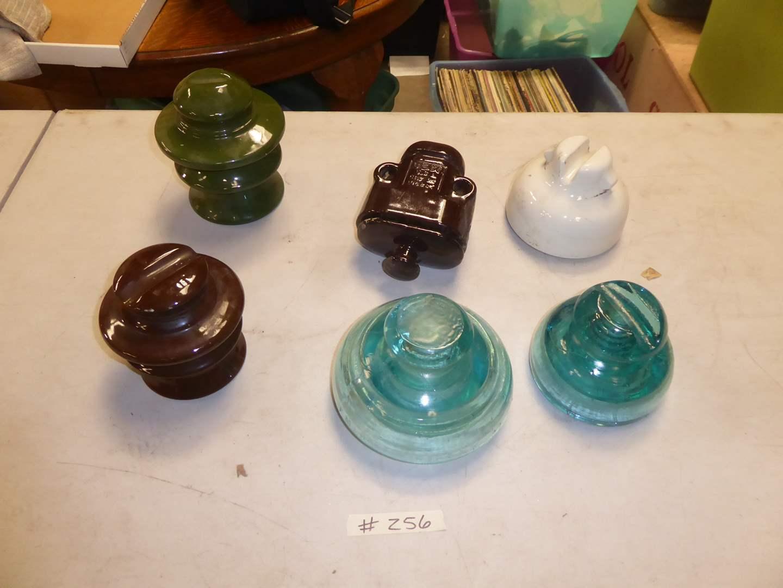 Lot # 256 - Large Ceramic Insulators & Glass Insulators  (main image)