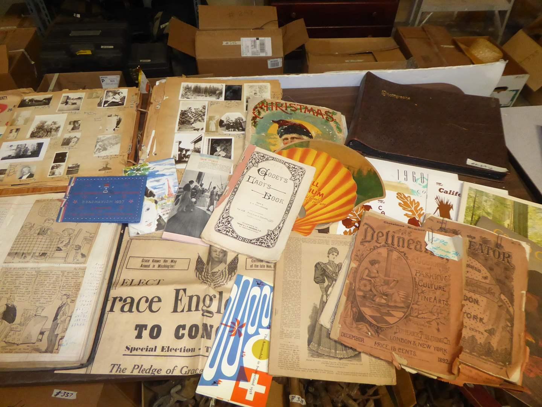 Lot # 262 - Vintage Photo Albums, Comic Scrapbooks & Paper Ephemera  (main image)