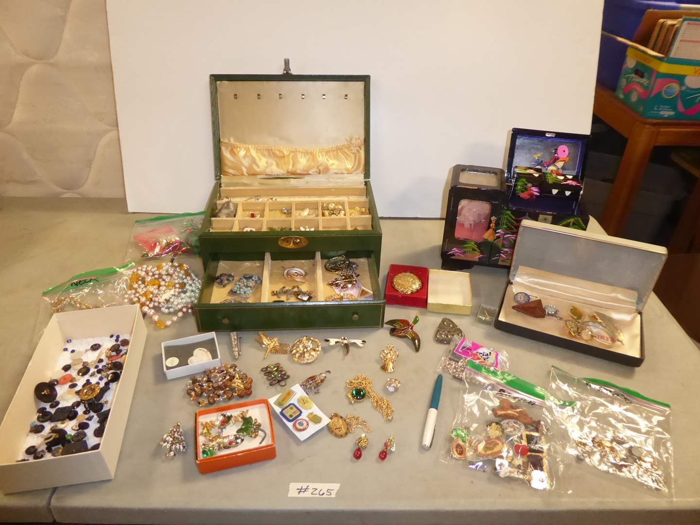 Lot # 265 - Costume Jewelry & Jewelry Boxes  (main image)