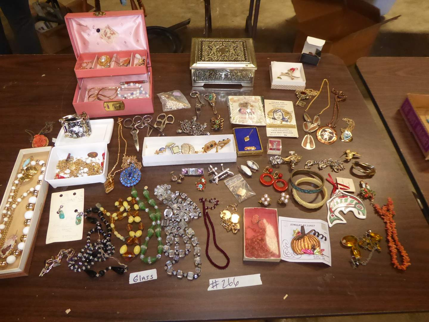 Lot # 266 - Costume Jewelry, Copper Necklace & Lockets  (main image)