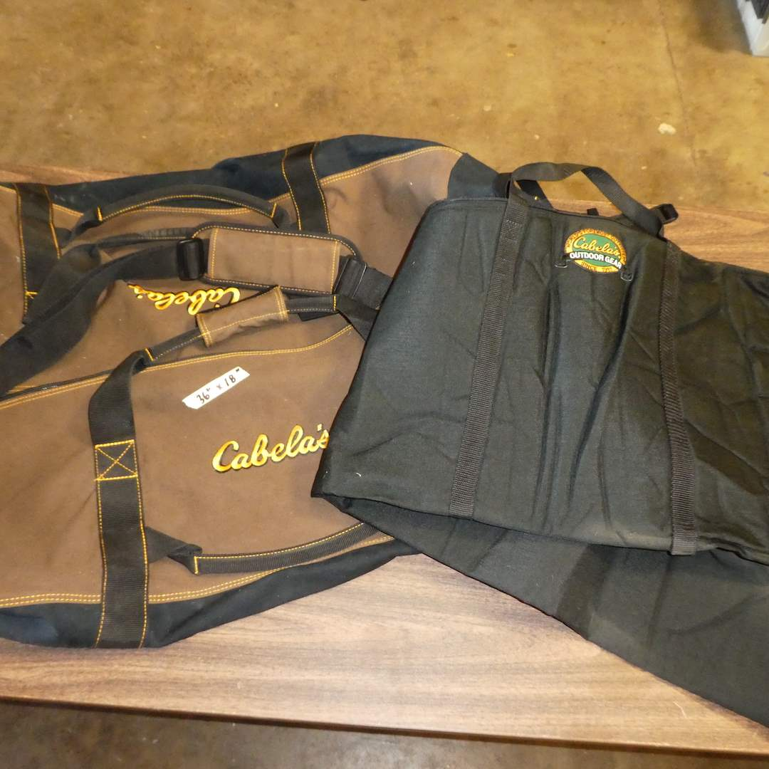 "Lot # 8 - Large Cabela's Duffel Bag and Cabela's Advanced Anglers Pro Rod Bag(82"") (main image)"