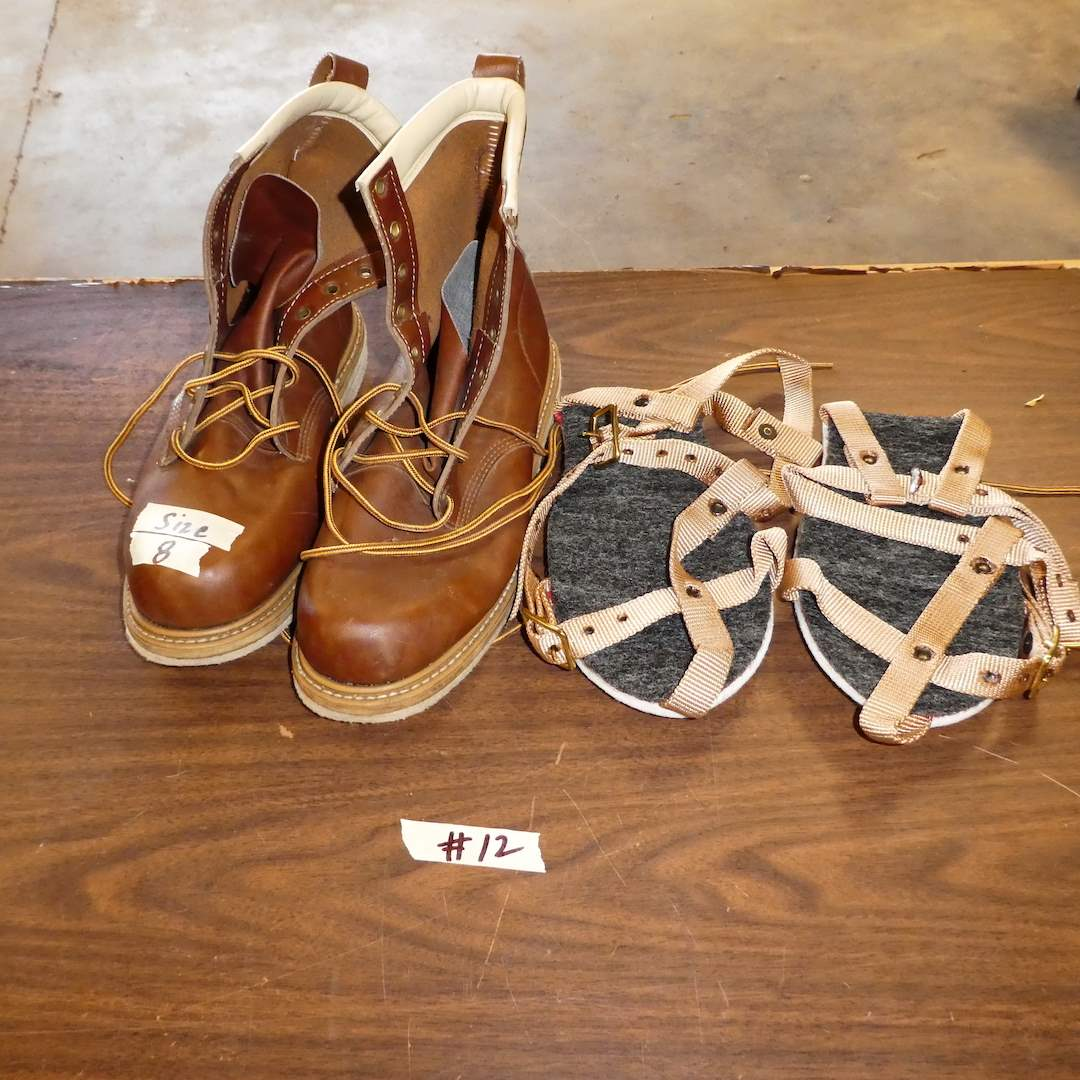Lot # 12 - James Scott Fly Fishing Boots (Size 8) and  (main image)