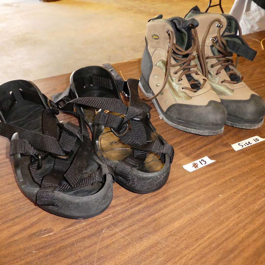 Lot # 13 - Cabela's Wading Boots (Size 10) and Korkers (Size Large) (main image)