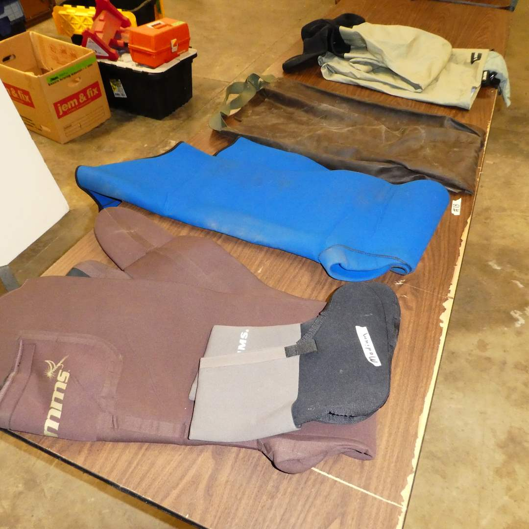 Lot # 18 - Simms Neoprene Waders and Booties, Simms Gore-tex Waders and Rubber Waders (main image)