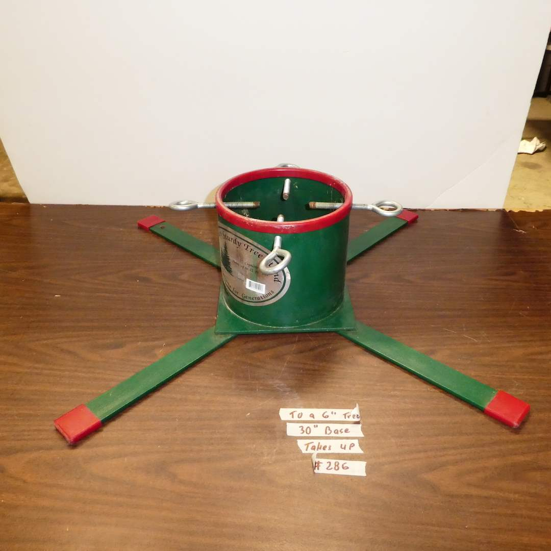 Lot # 286 -  Sturdy Metal Christmas Tree Stand (Holds up to a 12' Tree) (main image)