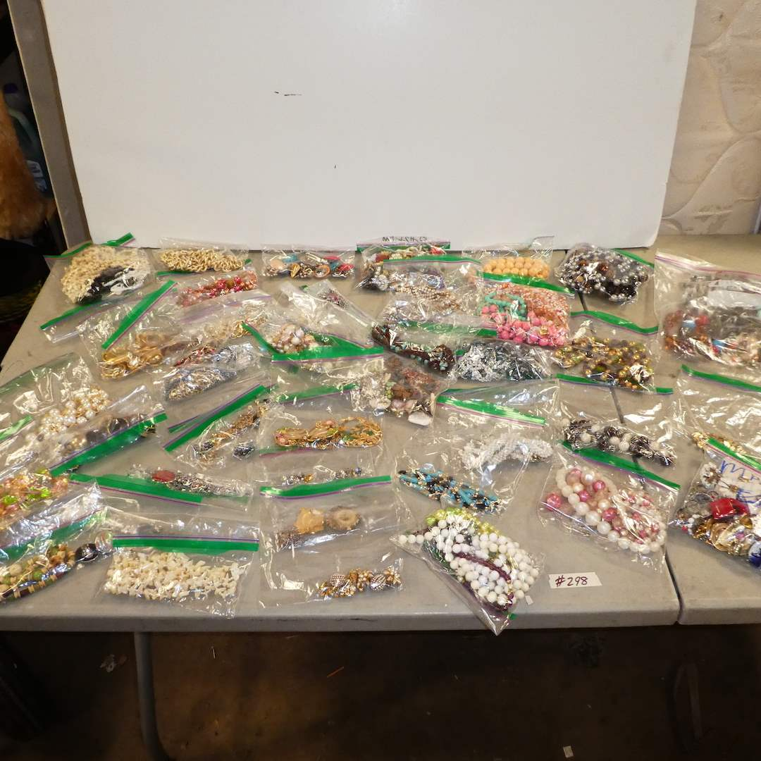 Lot # 298 - Variety of Vintage Jewelry in bags (main image)