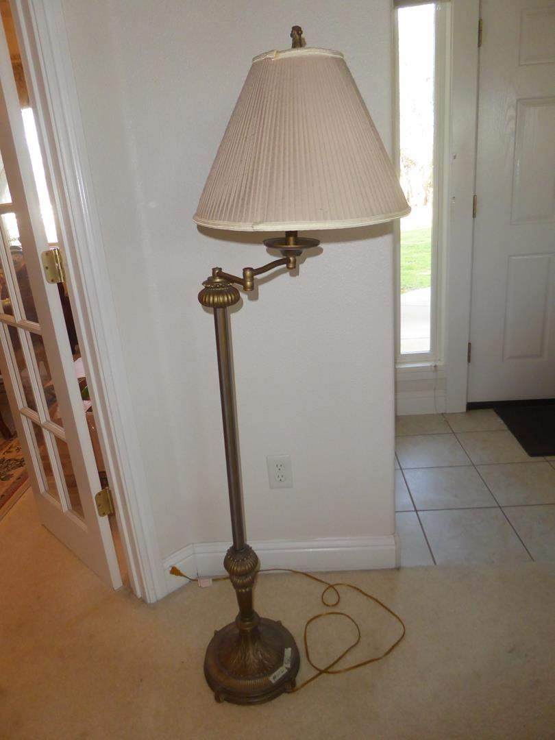 Lot # 116 - Stiffel Swing Arm Floor Lamp (main image)