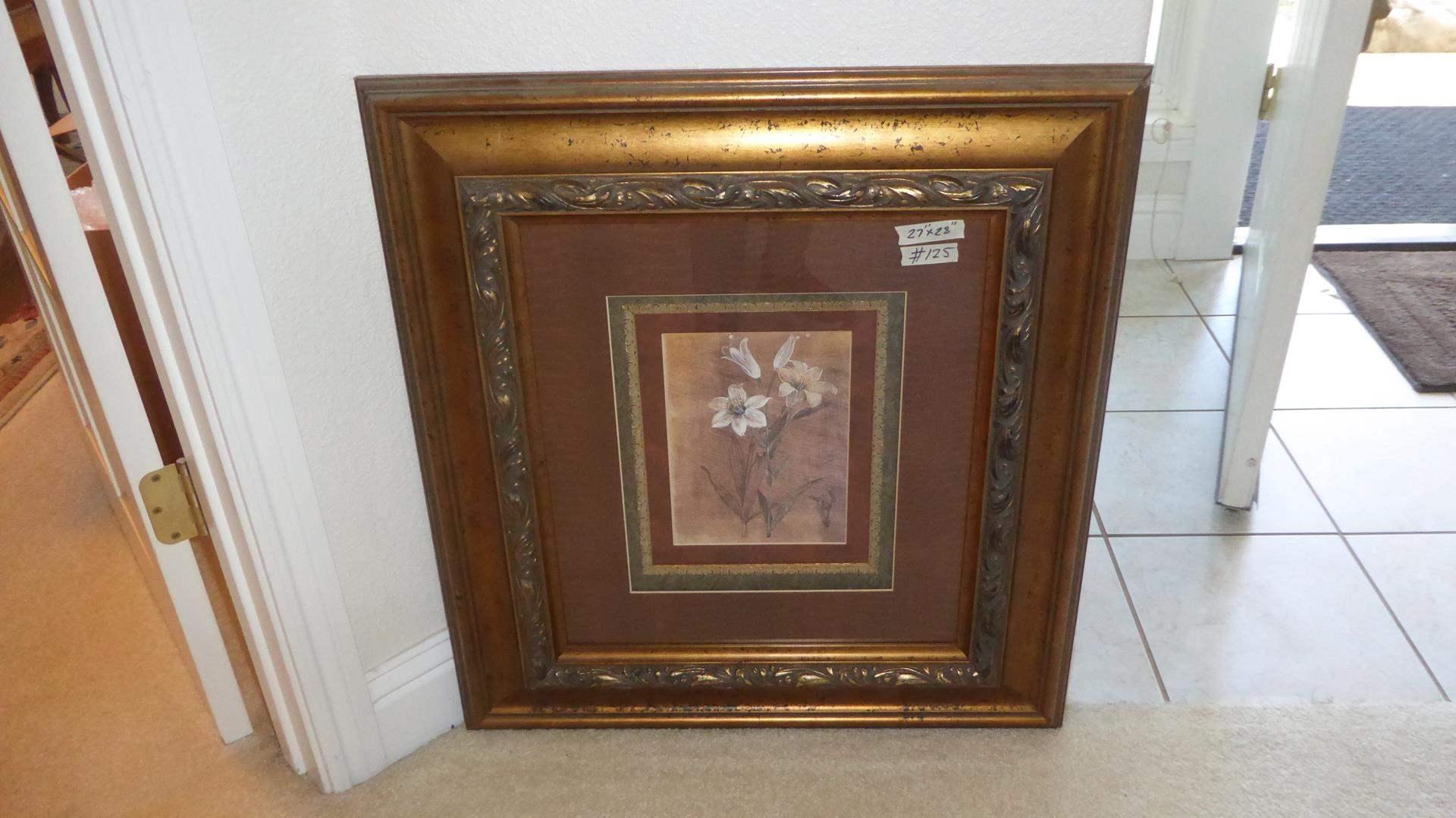 Lot # 125 - Beautifully Framed Floral Print (main image)