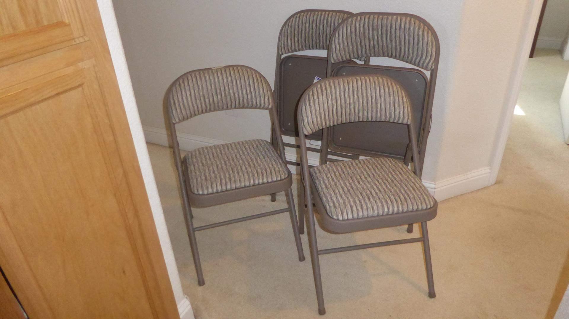 Lot # 151 - Four Samsonite Folding Chairs (main image)