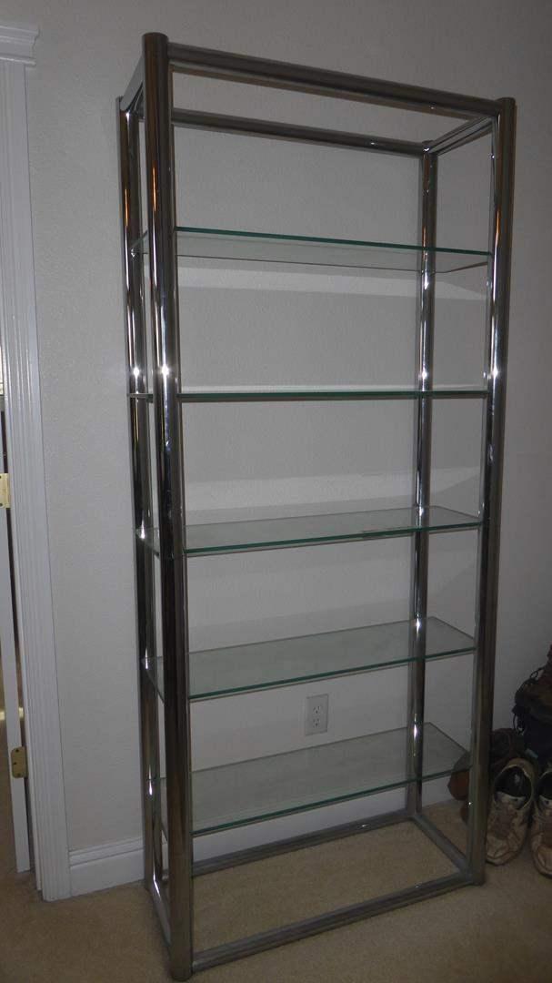 Lot # 160 - Metal Framed Glass Shelf (main image)