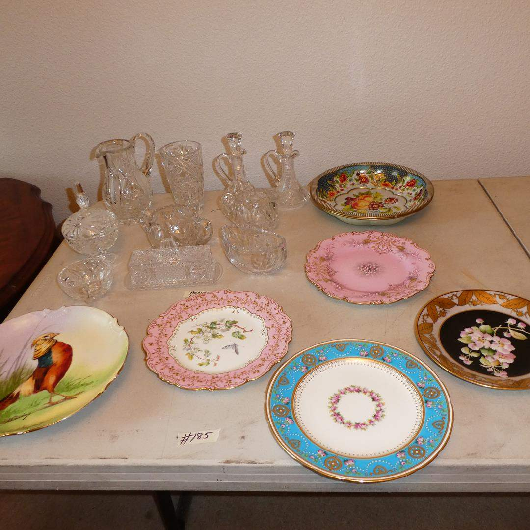 Lot # 185 - Vintage Designer Plates, Metal Trays & Crystal Serving Pieces (main image)