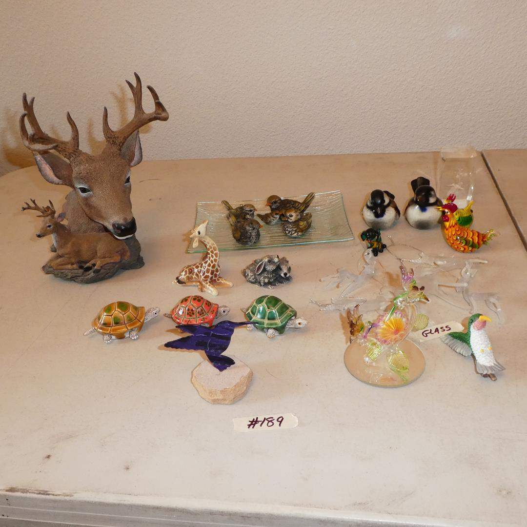 Lot # 189 - Animal Figurines & Glass Animal Ornaments Collection (main image)