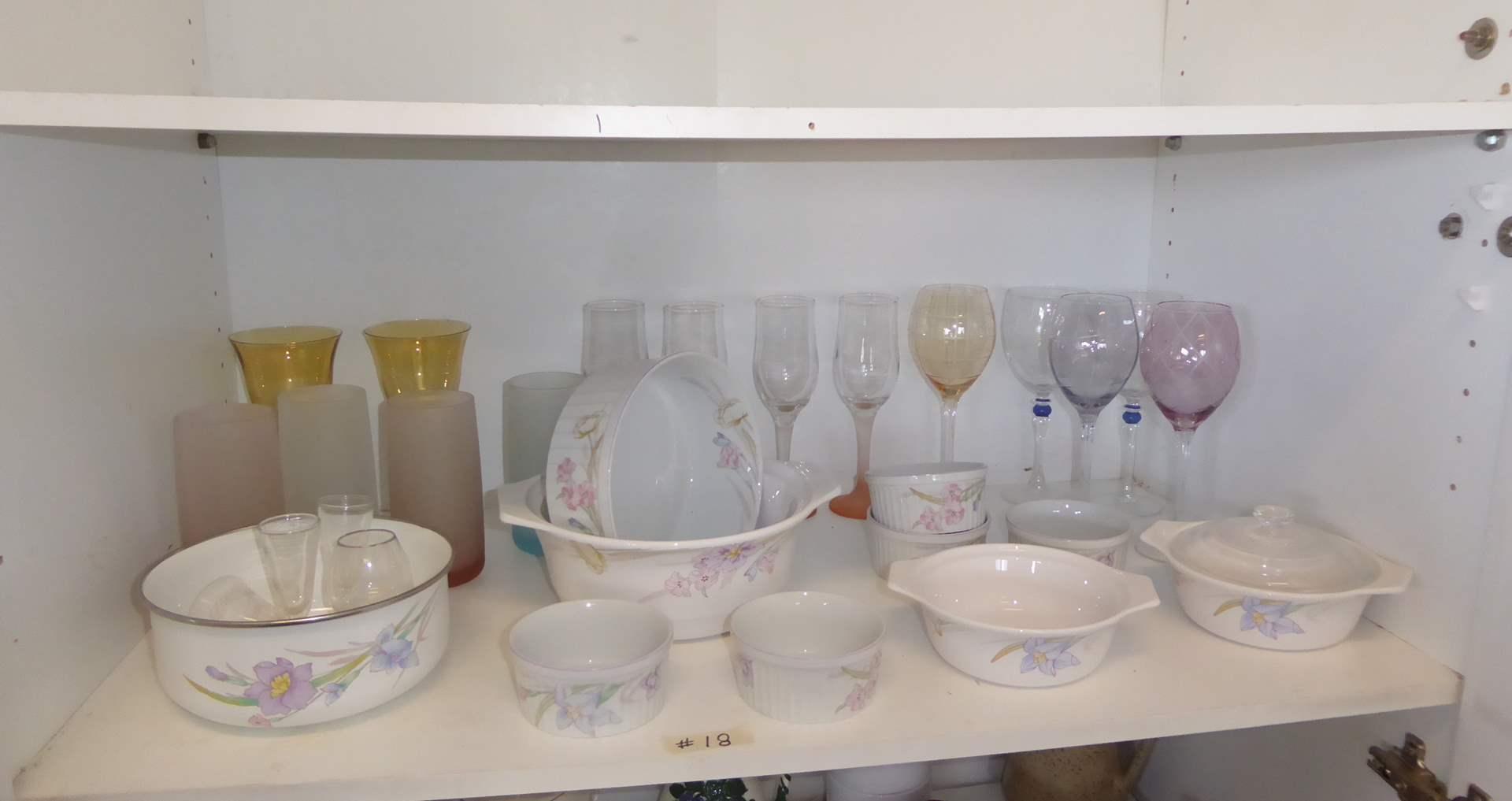 Lot # 18 - Colorful Stemmed Glassware, Mikasa & Studio Nova  (main image)
